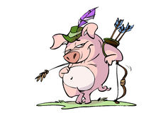 Robin hood pig Royalty Free Stock Photos
