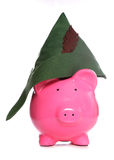 Robin hood piggy bank Stock Photos