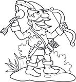 Robin Hood practiced archery Stock Image
