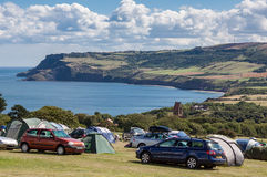 ROBIN HOOD'S BAY, NORTH YORKSHIRE/UK - AUGUST 22 - Camoing at Ro Royalty Free Stock Images