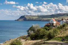 ROBIN HOOD'S BAY, NORTH YORKSHIRE/UK - AUGUST 22 - Scenic view o Royalty Free Stock Photos