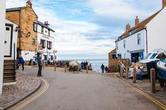 Robin Hood's Bay in North Yorkshire, UK Stock Photo