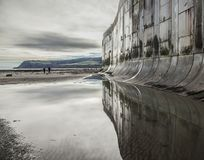 Free Robin Hood`s Bay, Reflection On The Beach. Stock Photos - 106998623