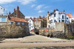 Robin Hood's Bay Yorkshire England. Beach and sea front at Robin Hood's Bay Yorkshire England UK Europe Royalty Free Stock Photos