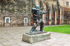 Robin Hood. Sculpture in courtyard Royalty Free Stock Image