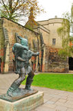 Robin Hood. Statue in front of Nottingham Castle (United Kingdom Stock Image