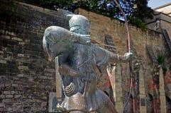 Robin Hood Statue, Nottingham Stockbilder
