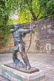 Robin Hood statue Nottingham England. Famous statue of Robin Hood Stock Images