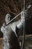 Robin Hood. Statue Nottingham near Nottingham Castle royalty free stock photos