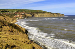 Robin Hoods Bay from Boggle Hole Stock Photos