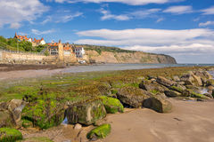 Robin Hoods Bay in England. Robin Hoods Bay on the north east coast of Yorkshire stock images