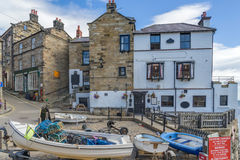 Robin Hoods Bay in England. Robin Hoods Bay on the north east coast of Yorkshire royalty free stock images