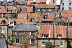 Robin Hoods Bay Homes and Roofs Stock Photography