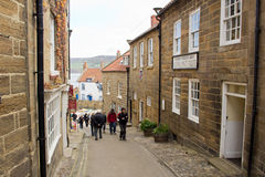 Robin Hoods Bay street Royalty Free Stock Photo