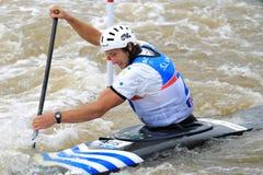 Robin Jeffery - water slalom world championship Royalty Free Stock Photo