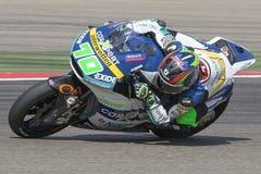 Robin MULHAUSER Moto2 Grand Prix Movistar Aragà ³ ν Στοκ Εικόνες