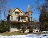 Robin's Nest. This is a Winter picture of the Albert H. Sears House in Plano, Illinois, known as Robin's Nest.  The house was designed by E.L. Hardin, is an Royalty Free Stock Photos