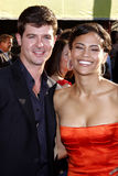 Robin Thicke and Paula Patton Stock Images