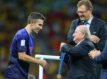 Robin van Persie Capitaine  Coupe du monde 2014 Royalty Free Stock Image