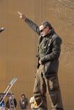Robin Williams avec les troupes Photographie stock libre de droits