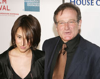 Robin Williams and daughter Zelda Williams Stock Image