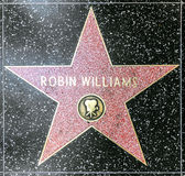 Robin Williams's star on Hollywood Stock Photography