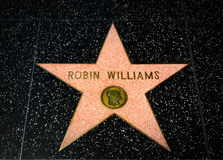 Robin Williams Star on the Hollywood Walk of Fame Royalty Free Stock Image