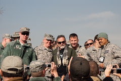Robin Williams with the Troops Stock Photo