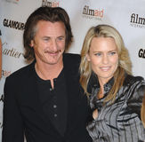 Robin Wright Penn, Sean Penn Photos libres de droits