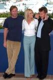 Robin Wright Penn Sean Penn, Aaron Eckhart Royaltyfri Foto