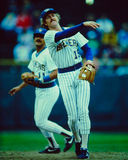 Robin Yount, Milwaukee Brewers. Former Milwaukee Brewers Hall of Fame Shortstop Robin Yount. (Image taken from slide Royalty Free Stock Photo