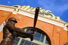 Robin Yount Statue at Miller Park Royalty Free Stock Photo