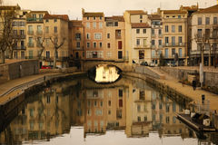 Robine canal. Narbonne. France Royalty Free Stock Photo