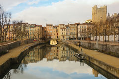 Robine canal. Narbonne. France Royalty Free Stock Image