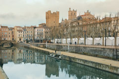 Robine canal. Narbonne. France Stock Photo