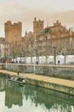Robine canal. Narbonne. France Royalty Free Stock Images