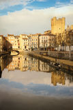 Robine canal. Narbonne. France Royalty Free Stock Photography