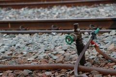 Robinet à la station de train photos libres de droits
