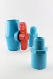 Robinet à tournant sphérique de PVC Photo stock
