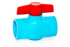 Robinet à tournant sphérique de robinet sur le fond blanc Images stock
