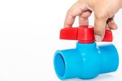 Robinet à tournant sphérique de robinet sur le fond blanc Image stock