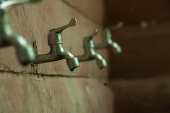 robinet argenté Images stock