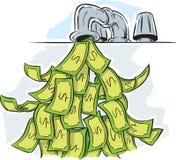 Robinet d'argent Photo libre de droits