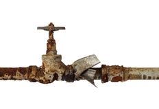 robinet d'arrêt sphérique de Z-corps Photo libre de droits