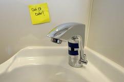 Robinet d'eau en panne Photos stock