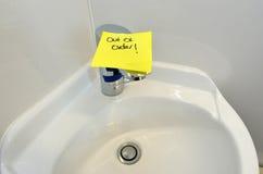 Robinet d'eau en panne Images libres de droits