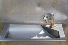 Robinets d'eau publics Photo stock