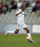 Robinho de Souza of Real Madrid. In action during the match between Espanyol and Real Madrid at the Olympic Stadium on September 18, 2005 in Barcelona, Spain stock photo