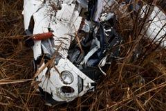 Robinson 44 crashed Royalty Free Stock Image