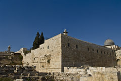 Robinson Arc, Second Jewish Temple,Jerusalem Stock Photo